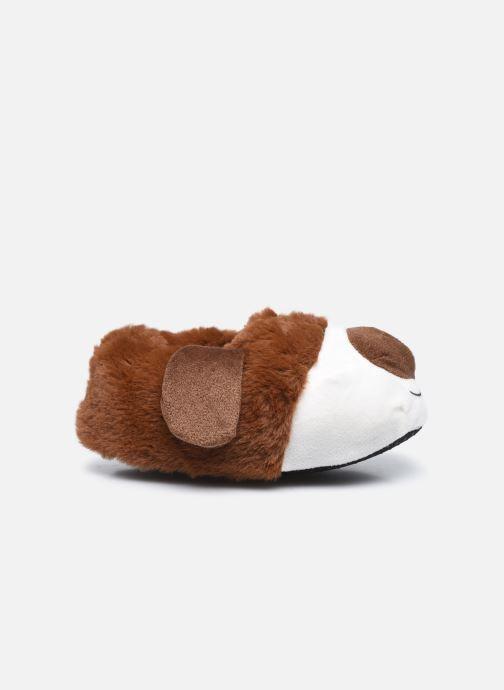 Hausschuhe Sarenza Wear Chaussons chien 3D enfant braun ansicht von hinten