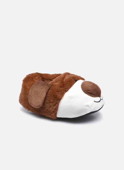 Hausschuhe Sarenza Wear Chaussons chien 3D enfant braun detaillierte ansicht/modell