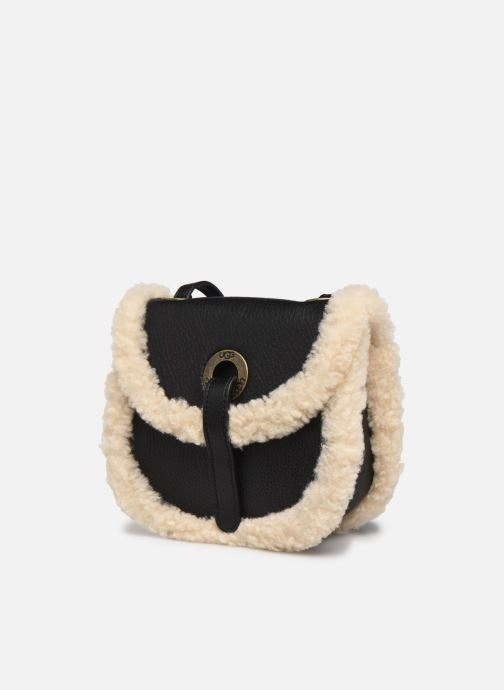 Handtaschen UGG Heritage Crossbody Leather schwarz schuhe getragen