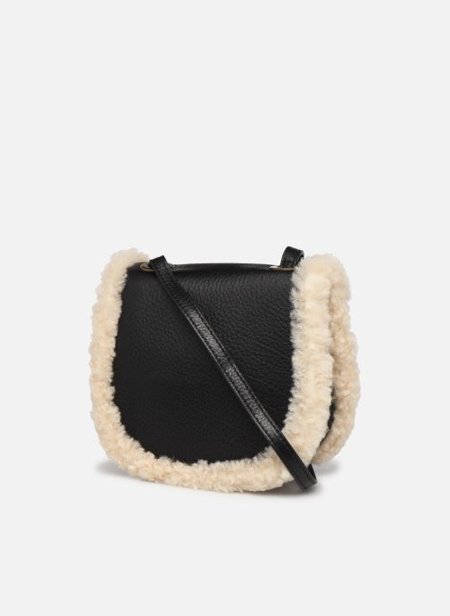 Handtaschen UGG Heritage Crossbody Leather schwarz ansicht von rechts