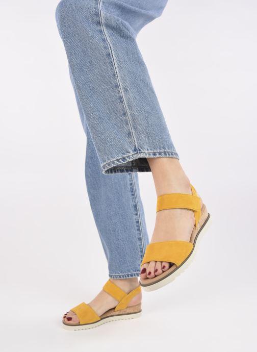 Sandales et nu-pieds Gabor NOUR 2.0 Jaune vue bas / vue portée sac