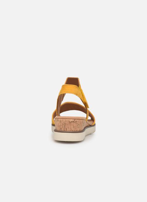 Sandales et nu-pieds Gabor NOUR 2.0 Jaune vue droite
