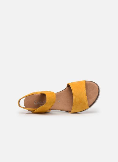 Sandales et nu-pieds Gabor NOUR 2.0 Jaune vue gauche