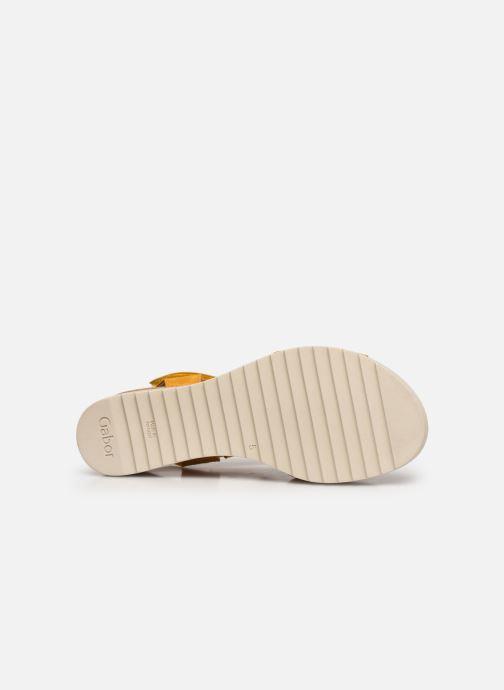 Sandales et nu-pieds Gabor NOUR 2.0 Jaune vue haut