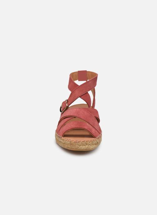 Espadrilles Naguisa Borda rosa schuhe getragen