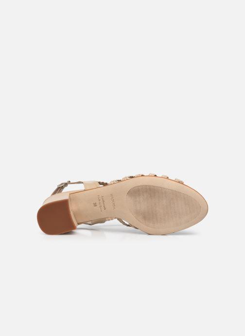 Sandalen Naguisa Raco beige ansicht von oben