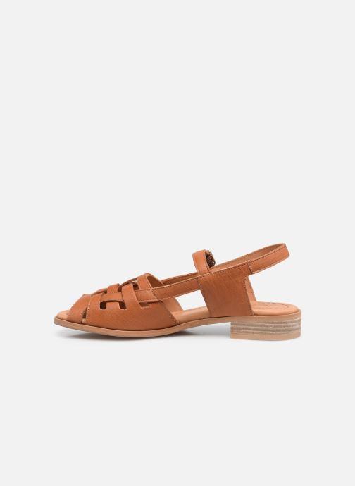 Sandalen Naguisa Manto braun ansicht von vorne