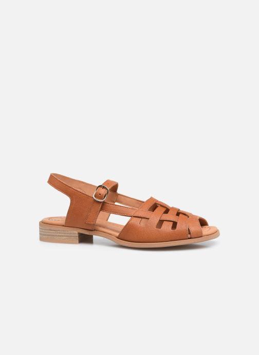 Sandalen Naguisa Manto braun ansicht von hinten