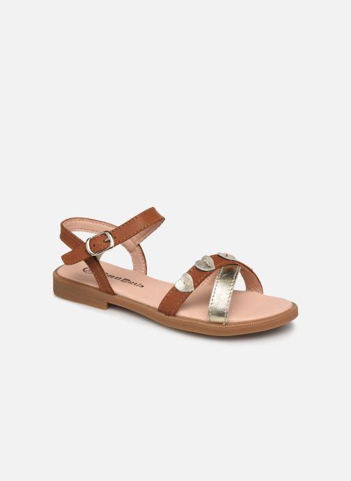 Sandales et nu-pieds Rose et Martin BETINA LEATHER Marron vue détail/paire