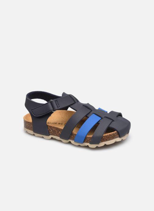 Sandales et nu-pieds Rose et Martin BORIVER LEATHER Bleu vue détail/paire