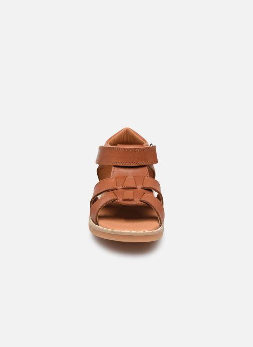 Sandales et nu-pieds Rose et Martin BONOA LEATHER Marron vue portées chaussures