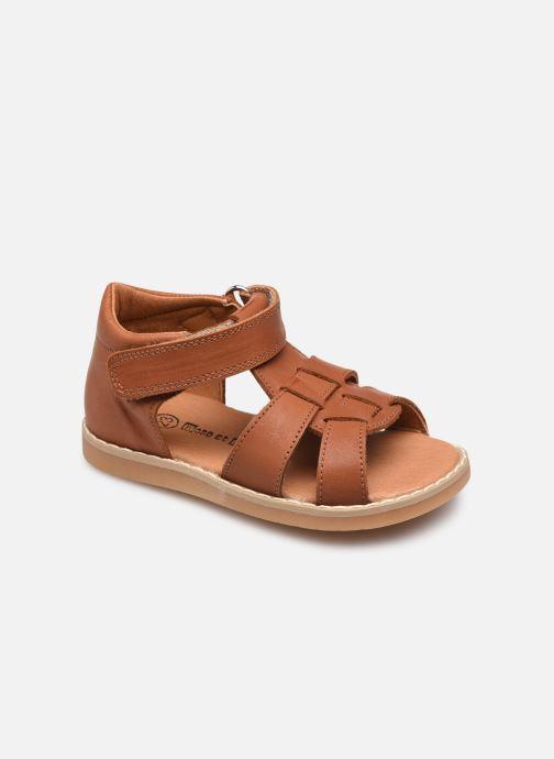 Sandales et nu-pieds Rose et Martin BONOA LEATHER Marron vue détail/paire