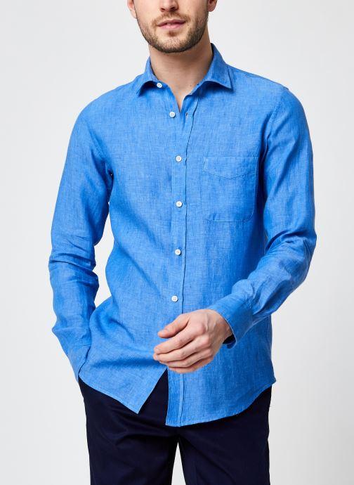 Vêtements Hartford Chemise Storm Lin Bleu vue détail/paire