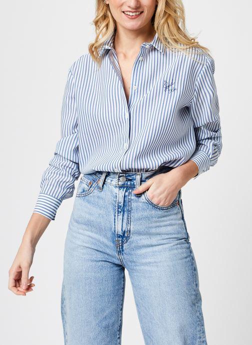 Kleding Maison Labiche Boyfriend Shirt F Blauw detail