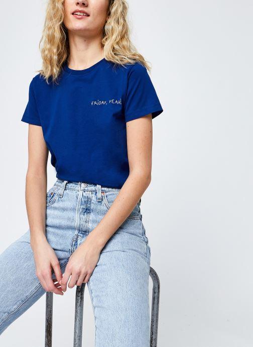 Vêtements Maison Labiche Crew Neck Tee F Bleu vue détail/paire