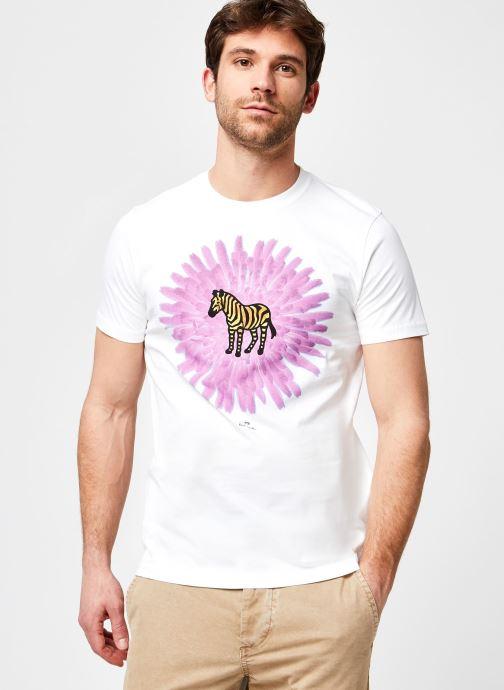 Kleding Accessoires Mens Slim Fit Tshirt Flower Zebra