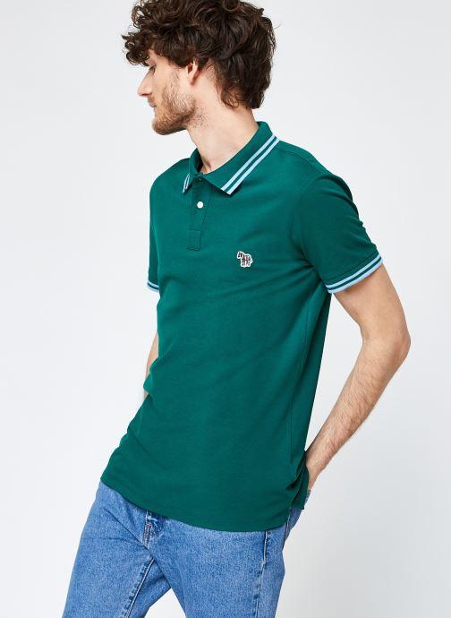 Kleding PS Paul Smith Mens Slim Fit Ss Polo Shirt Groen detail
