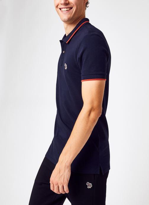 Vêtements PS Paul Smith Mens Slim Fit Ss Polo Shirt Bleu vue détail/paire