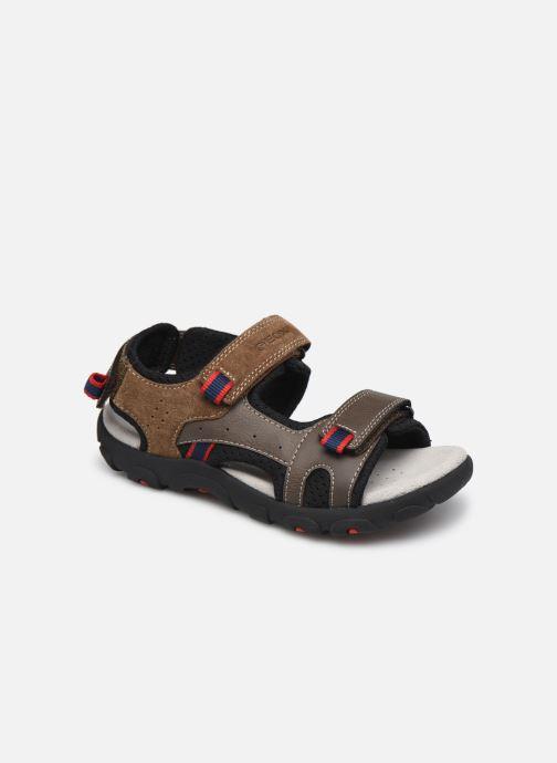 Sandales et nu-pieds Geox Jr Sandal Strada J1524C Marron vue détail/paire
