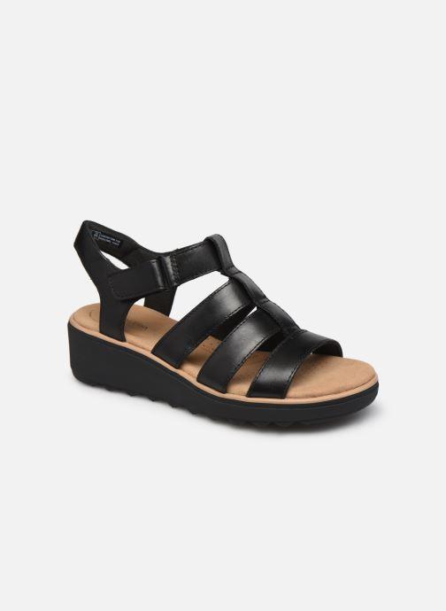Sandales et nu-pieds Clarks Jillian Quartz Noir vue détail/paire
