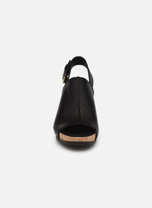 Sandalen Clarks Flex Stitch schwarz schuhe getragen