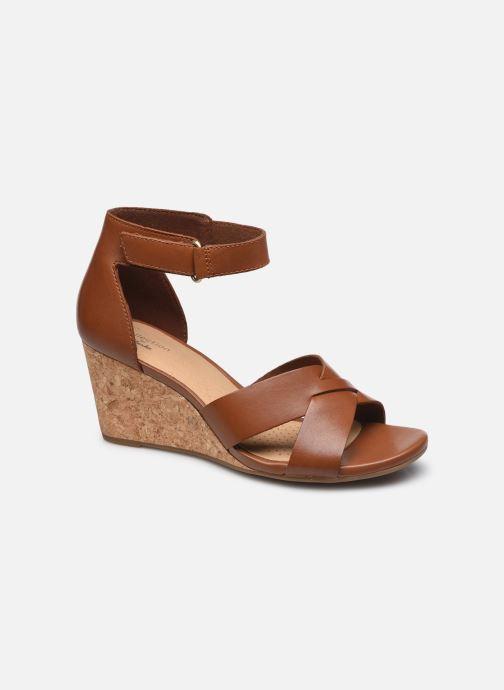 Sandales et nu-pieds Clarks Margee Gracie Marron vue détail/paire
