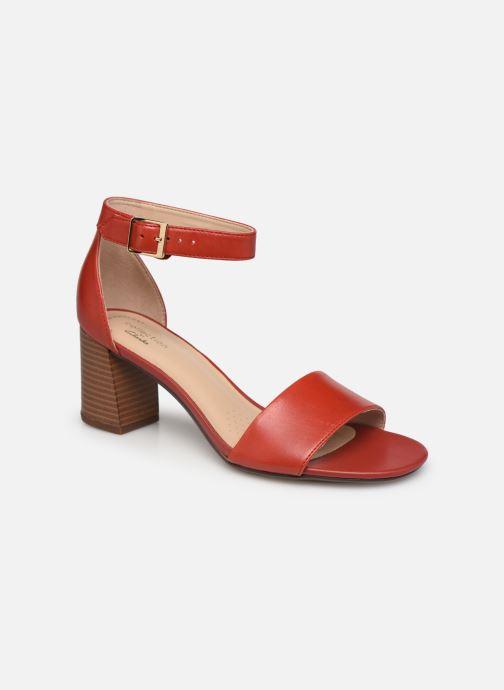 Sandales et nu-pieds Clarks Jocelynne Cam Rouge vue détail/paire