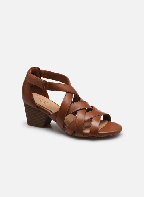 Sandales et nu-pieds Clarks Lorene Pop Marron vue détail/paire