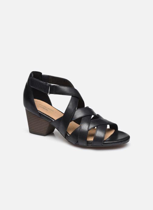 Sandales et nu-pieds Clarks Lorene Pop Noir vue détail/paire