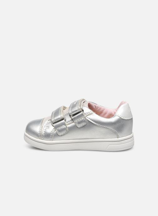 Sneaker Geox B Djrock Girl B151WC silber ansicht von vorne