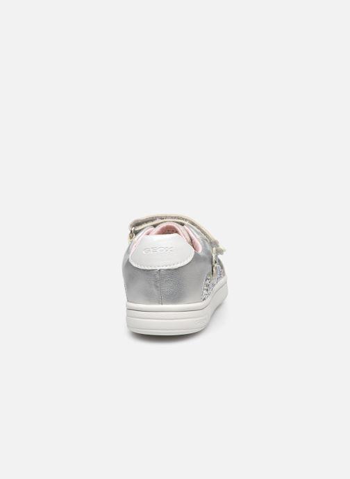 Sneaker Geox B Djrock Girl B151WC silber ansicht von rechts