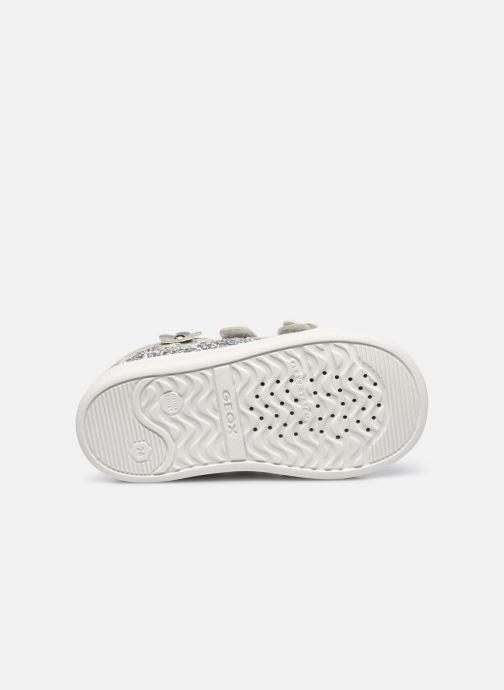Sneaker Geox B Djrock Girl B151WC silber ansicht von oben