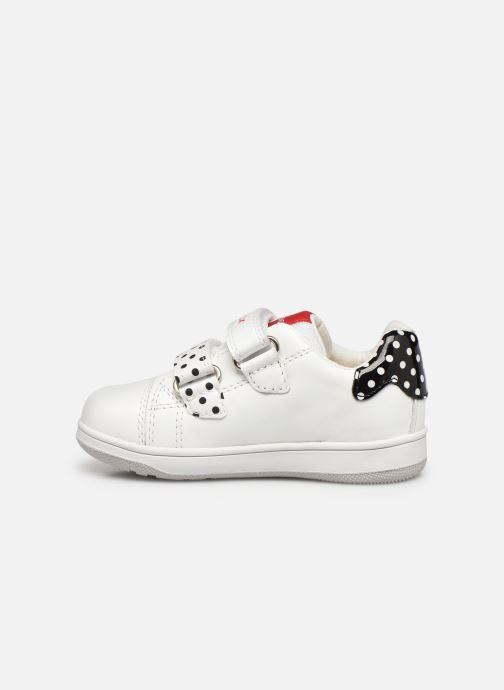 Sneaker Geox B New Flick Girl B151HA x Minnie weiß ansicht von vorne