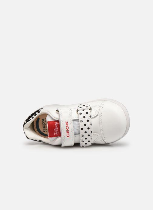 Sneaker Geox B New Flick Girl B151HA x Minnie weiß ansicht von links