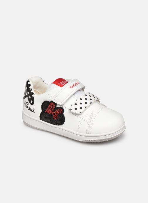Sneaker Geox B New Flick Girl B151HA x Minnie weiß detaillierte ansicht/modell