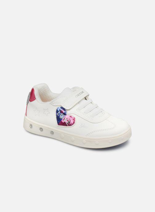 Sneaker Geox J Skylin Girl J158WI weiß detaillierte ansicht/modell