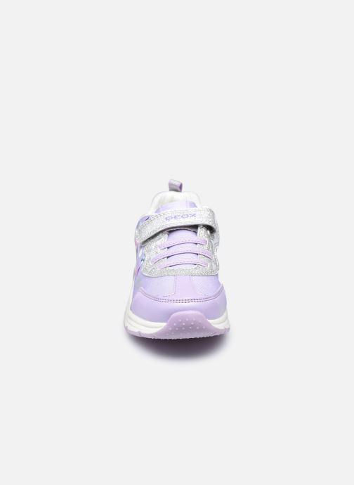 Sneaker Geox J Spaceclub Girl J158VB lila schuhe getragen