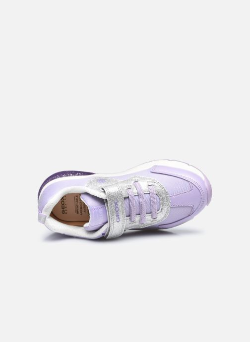 Sneaker Geox J Spaceclub Girl J158VB lila ansicht von links