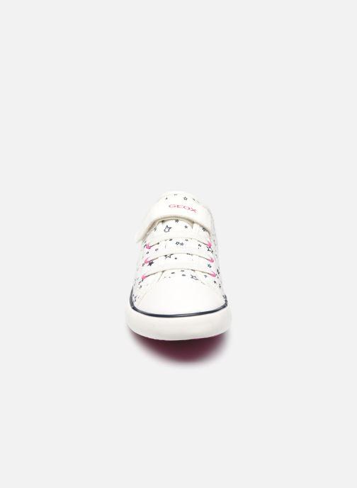 Sneakers Geox J Gisli Girl J154NE Bianco modello indossato