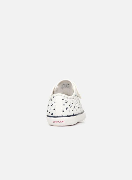 Sneakers Geox J Gisli Girl J154NE Bianco immagine destra