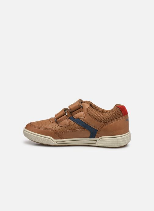 Sneaker Geox J Poseido Boy J15BCA braun ansicht von vorne