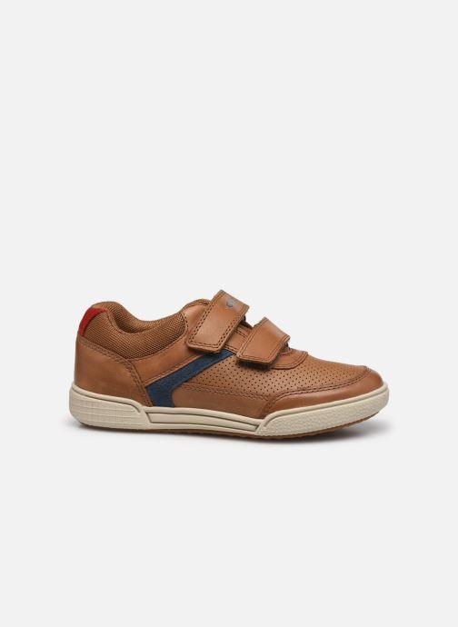 Sneaker Geox J Poseido Boy J15BCA braun ansicht von hinten