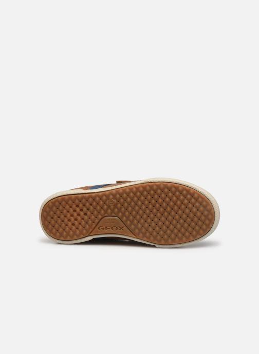 Sneaker Geox J Poseido Boy J15BCA braun ansicht von oben