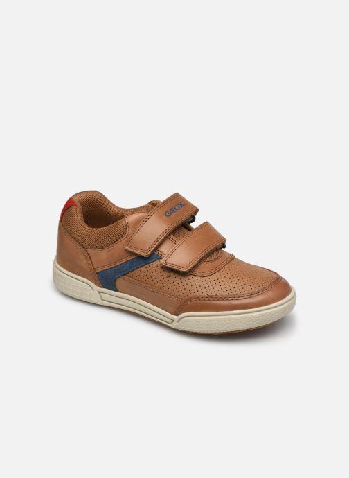Sneaker Geox J Poseido Boy J15BCA braun detaillierte ansicht/modell