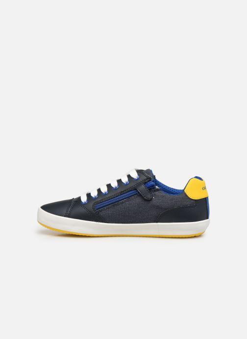 Sneakers Geox J Gisli Boy J155CD Azzurro immagine frontale