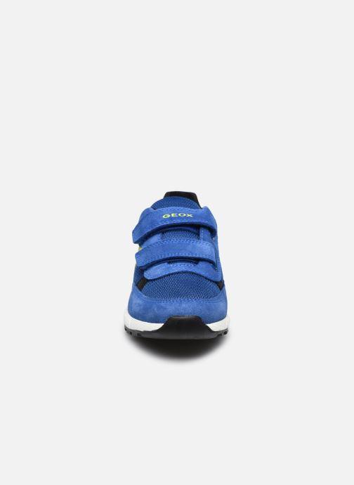 Sneaker Geox J Alben Boy J159EA blau schuhe getragen