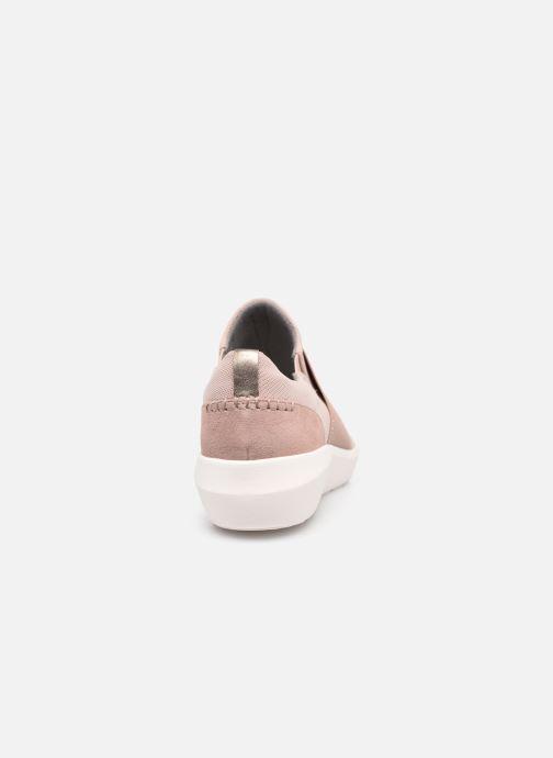 Sneaker Clarks Kayleigh Band rosa ansicht von rechts