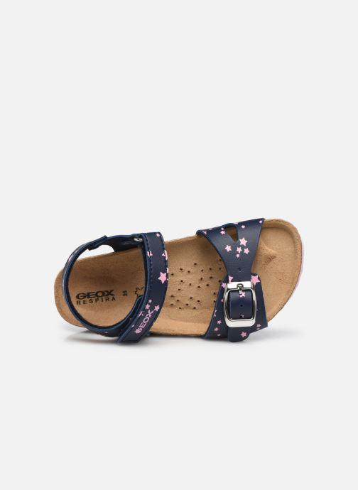 Sandali e scarpe aperte Geox B Sandal Chalki Girl  B922RA Azzurro immagine sinistra