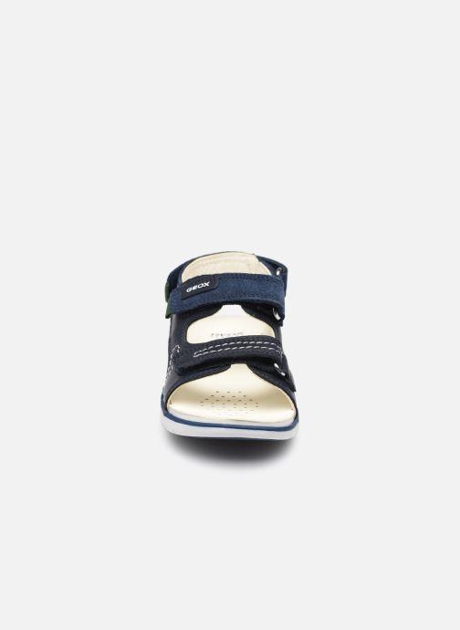 Sandalen Geox B Sandal Delhi Boy B154LC blau schuhe getragen