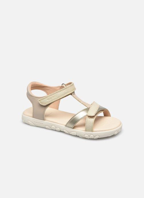 Sandales et nu-pieds Geox J Sandal Haiti Girl J158ZA Beige vue détail/paire